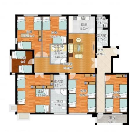 领秀新硅谷6室3厅2卫1厨262.00㎡户型图