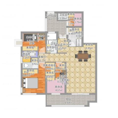 北湖星城五期3室1厅3卫1厨132.00㎡户型图
