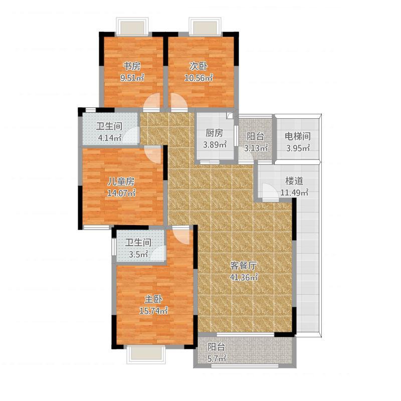 滨江新区4#楼140平(原型)