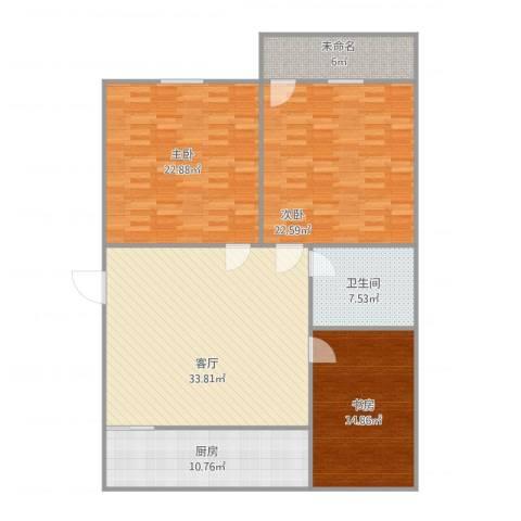 永林新村3室1厅1卫1厨157.00㎡户型图
