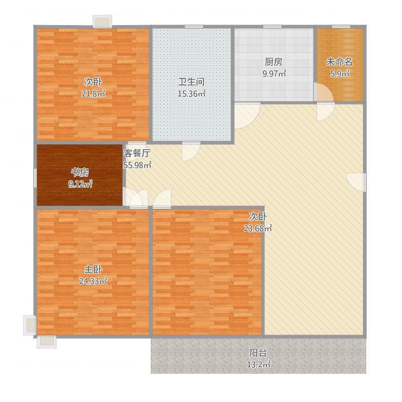 145平三室两厅
