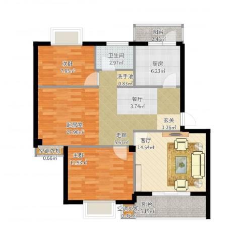 盛世又一村2室1厅1卫1厨113.00㎡户型图