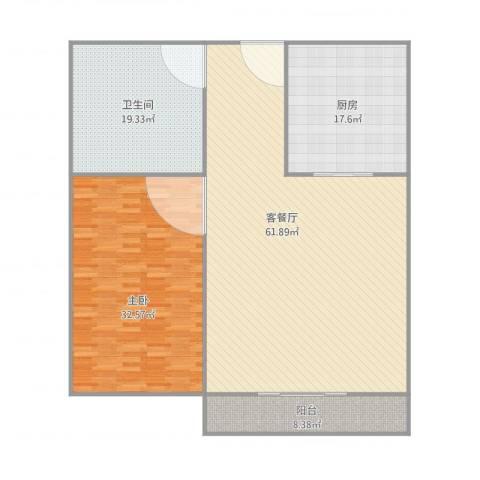 星光广场1室1厅1卫1厨183.00㎡户型图