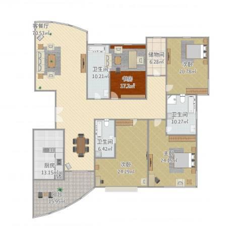 仁恒滨江园4室1厅3卫1厨291.00㎡户型图