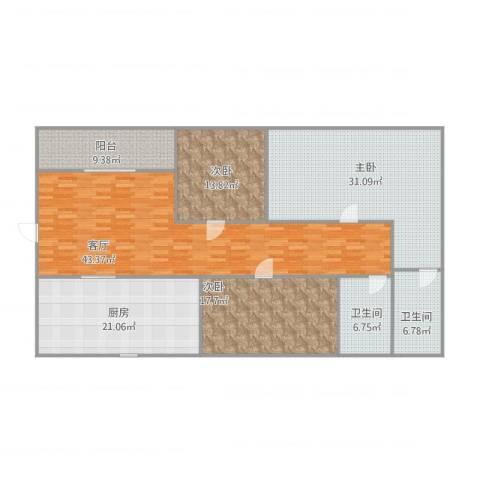 富雅轩3室1厅2卫1厨199.00㎡户型图