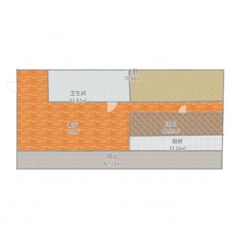华远西小区2室1厅1卫1厨623.00㎡户型图