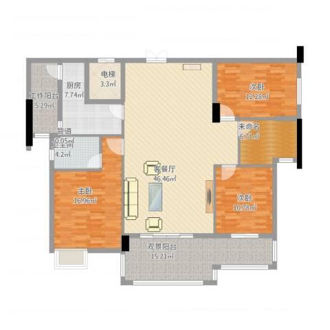 水口雅乐苑3室1厅4卫3厨181.00㎡户型图