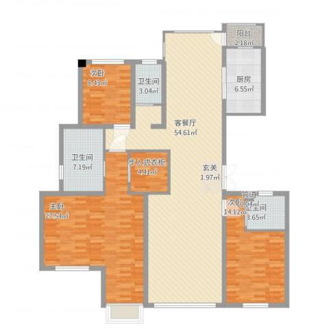 浙建・太和丽都三期3室1厅4卫1厨147.82㎡户型图