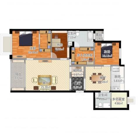 同进君望3室2厅2卫1厨169.00㎡户型图