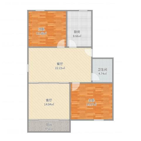 江海新村232号402室2室2厅1卫1厨112.00㎡户型图