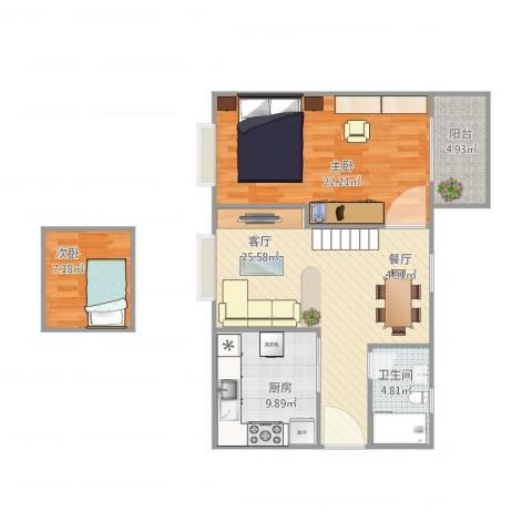雍景园J5-9062室1厅1卫1厨100.00㎡户型图