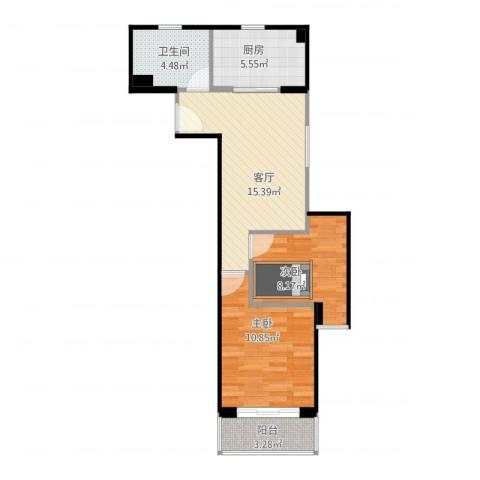 恒高家园2室1厅1卫1厨67.00㎡户型图