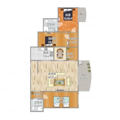 昌乐园1室1厅2卫1厨152.00㎡户型图