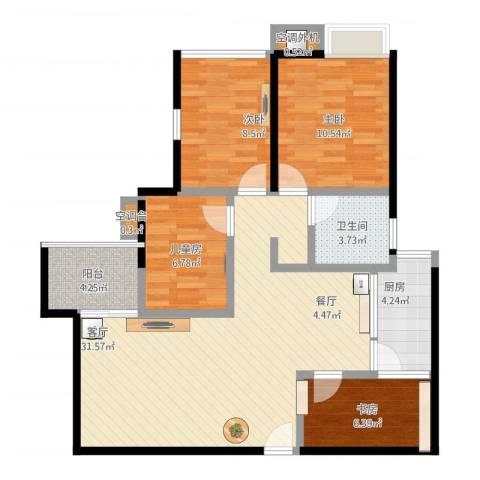 比克橄榄湾4室1厅3卫1厨110.00㎡户型图
