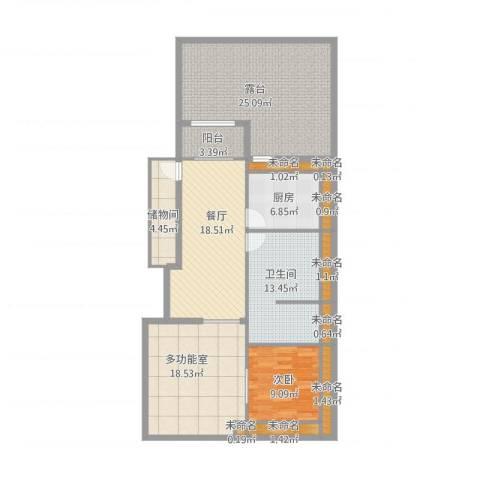 沈阳月星国际城1室1厅8卫1厨150.00㎡户型图