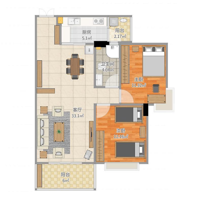 玫瑰湖恒祥豪苑18栋1002室
