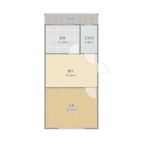 湖光小区1室1厅1卫1厨97.00㎡户型图