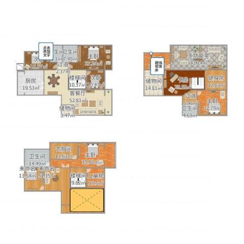 滨河湾城市花园8室1厅7卫4厨595.00㎡户型图
