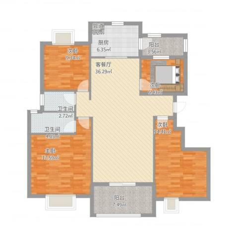 安阳碧桂园4室1厅3卫1厨152.00㎡户型图