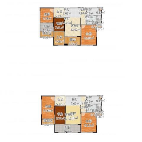 华邦光明世家6室2厅2卫2厨264.00㎡户型图