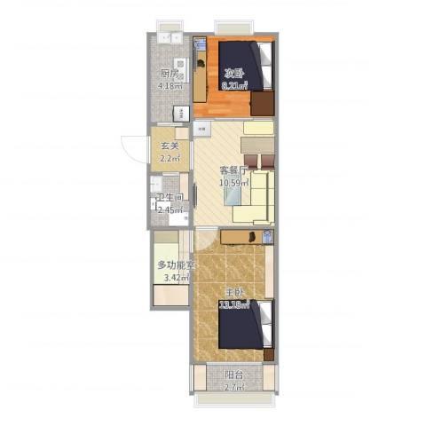 前泥洼一区2室1厅1卫1厨65.00㎡户型图