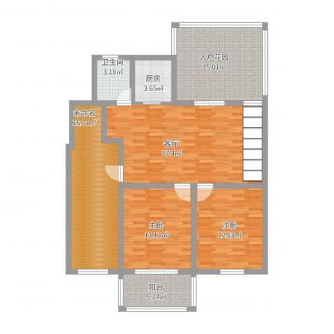 西欧名邸2室1厅3卫1厨139.00㎡户型图