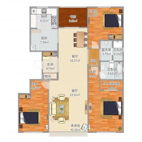 国仕汇4室1厅2卫1厨175.00㎡户型图