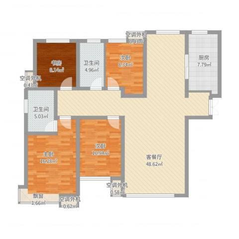 和润香堤4室1厅2卫1厨161.00㎡户型图