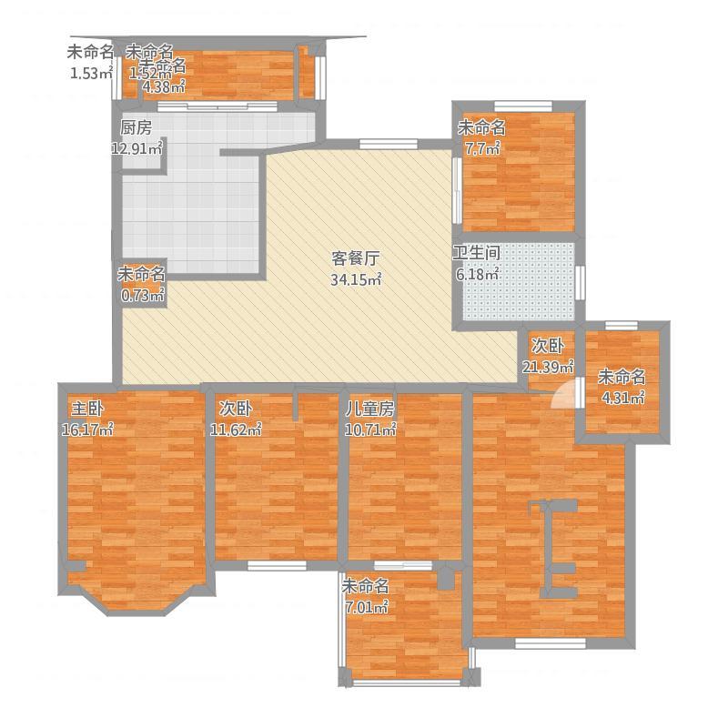 欧式四居室施工图(含效果)