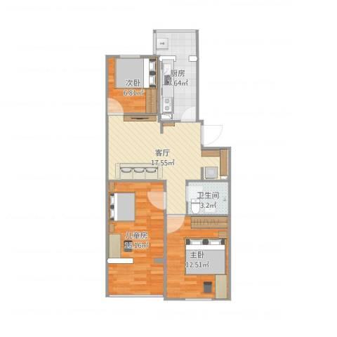 NXY-13室1厅1卫1厨86.00㎡户型图