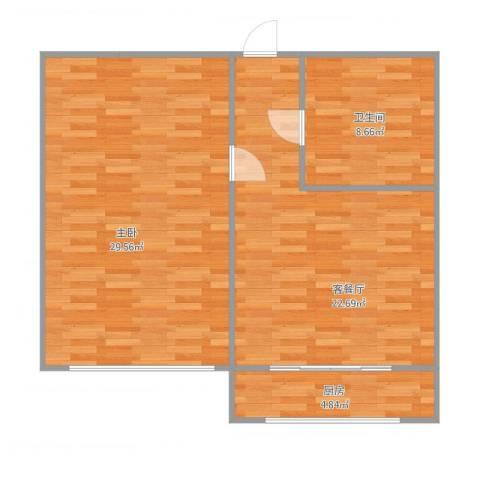 西林街1室1厅1卫1厨87.00㎡户型图