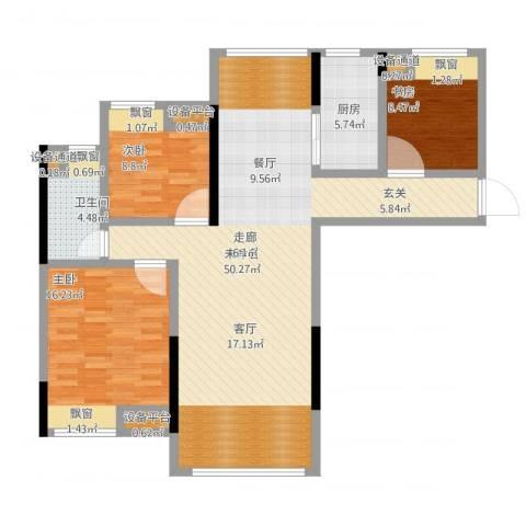 中央香榭3室1厅5卫1厨138.00㎡户型图