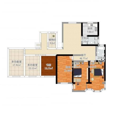 锦江苑4室1厅2卫1厨250.00㎡户型图