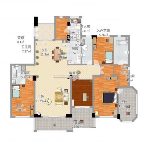 建发江湾萃珺邸4室1厅3卫1厨275.00㎡户型图