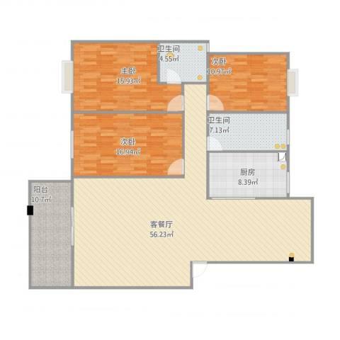 东江明珠39#1-4023室1厅2卫1厨160.00㎡户型图