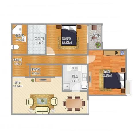 北洼路29号1室1厅1卫1厨95.00㎡户型图
