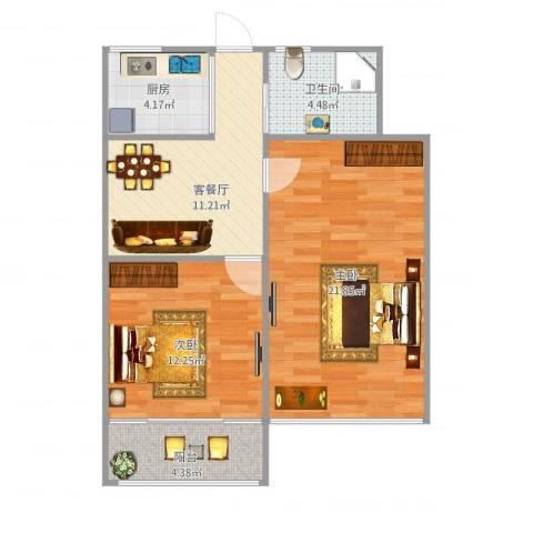 昌五小区650弄14号2室1厅1卫1厨79.00㎡户型图