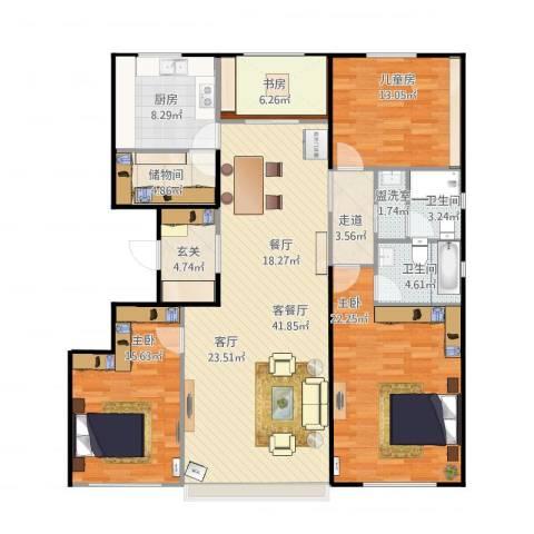 国仕汇4室2厅2卫1厨175.00㎡户型图