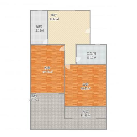 公园30002室1厅1卫1厨253.00㎡户型图