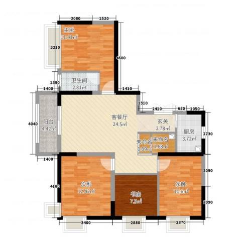 瑞和山水居4室1厅1卫1厨115.00㎡户型图