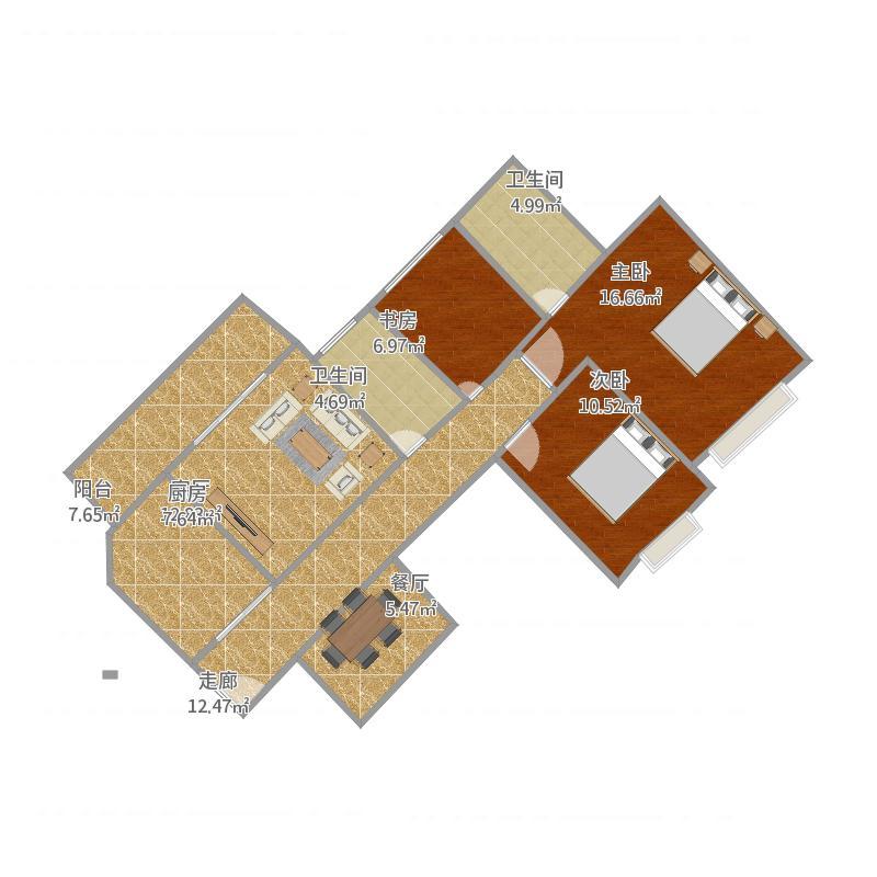 昆明恒大2、3栋号标准层定位图5