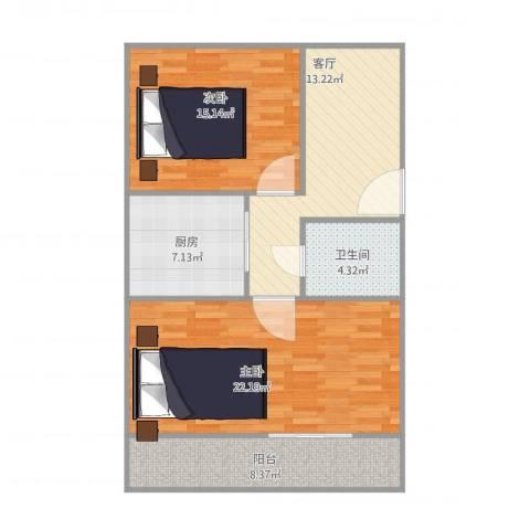 水碓子东路17-6-5032室1厅1卫1厨95.00㎡户型图