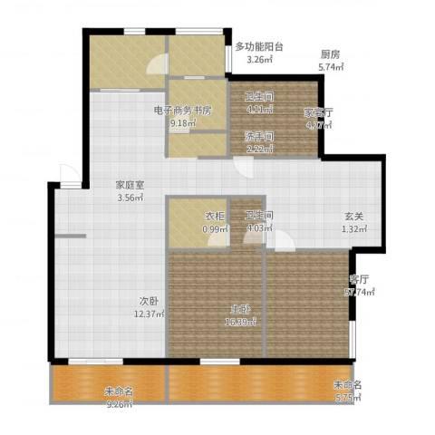 晨光绿苑2室1厅2卫1厨176.00㎡户型图