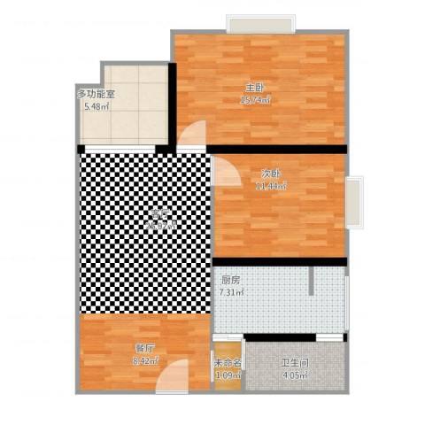 安芯智能港2室1厅2卫1厨98.00㎡户型图