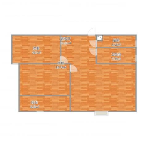 顺美华庭2室1厅1卫1厨146.00㎡户型图