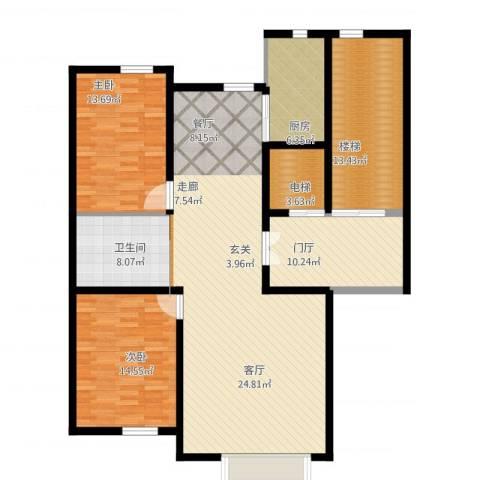 实华・金域蓝湾2室1厅1卫1厨160.00㎡户型图