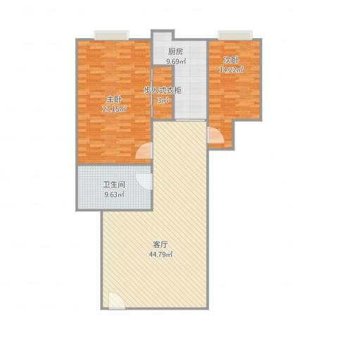 丽日华庭2室1厅1卫1厨144.00㎡户型图