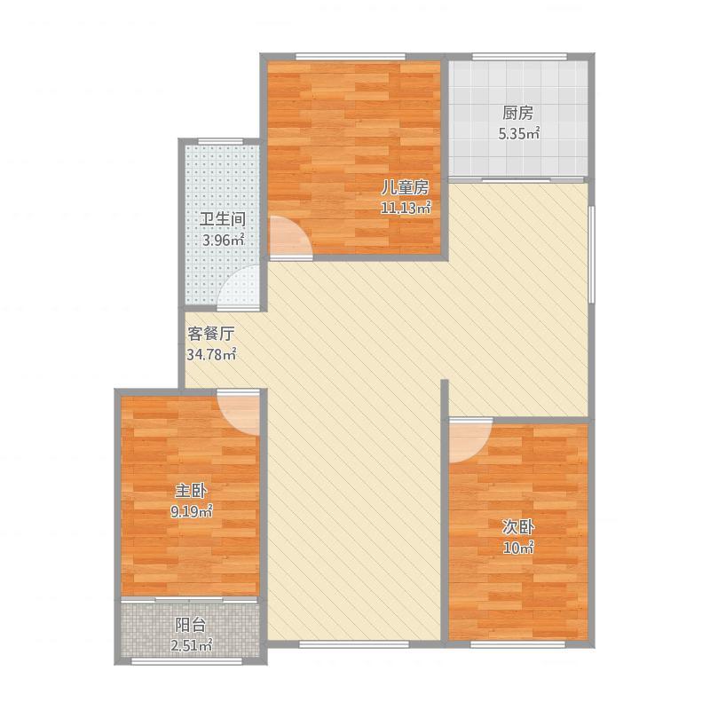 104三室两厅西户