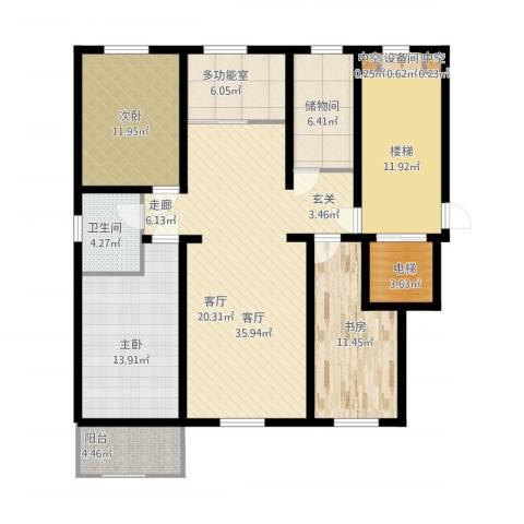 橄榄城3室1厅3卫3厨160.00㎡户型图