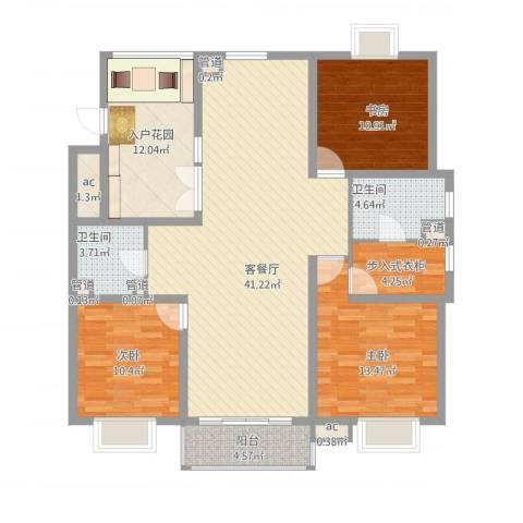 东苑古龙城3室1厅5卫4厨154.00㎡户型图